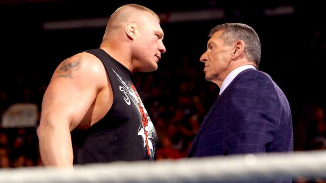 Brock Lesnar Returned on Raw And Hits F5 To Vince McMahon