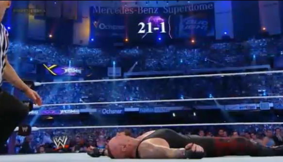 Brock Lesnar defeated The Underaker