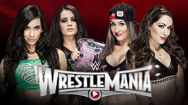 WWE WrestleMania 31 Results - AJ Lee and Paige vs. The Bella Twins