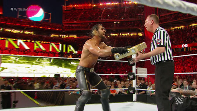 WWE WrestleMania 31 Results Seth Rollins Cashes In His MITB Contract
