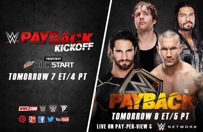 WWE Payback 2015 Results