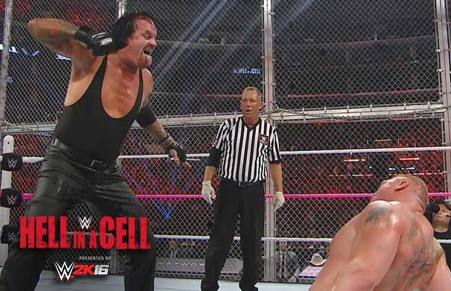 Brock Lesnar The Undertaker (Hell in a Cell Match)