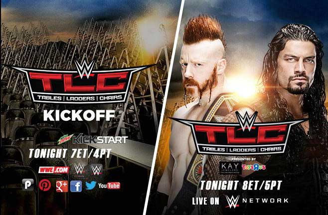 WWE TLC 2015 Results