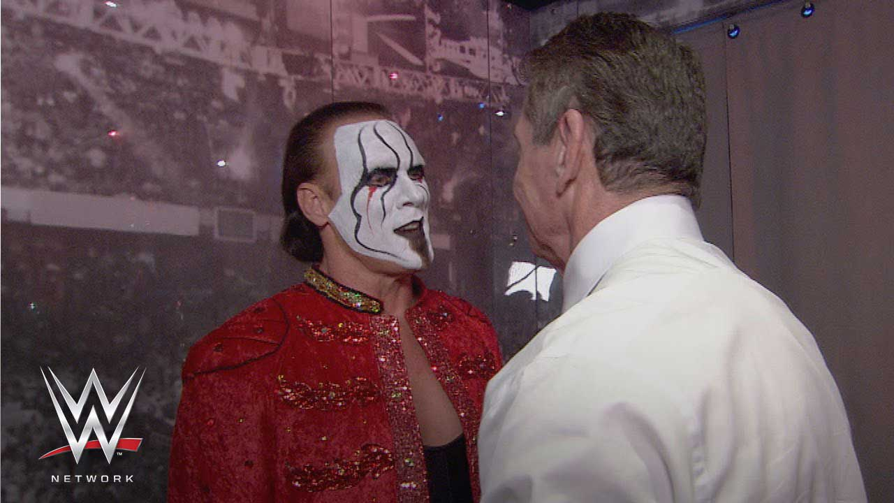 sting and vince mcmahon - wrestlemania 31