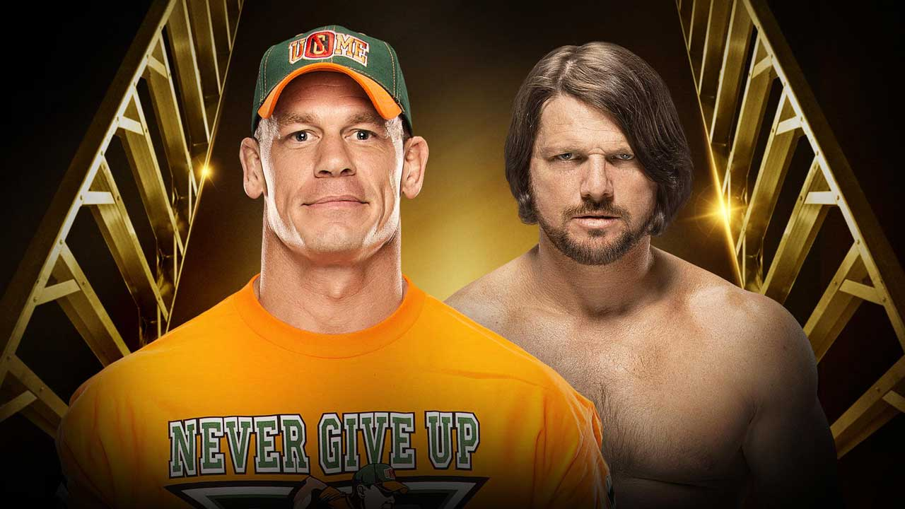 John Cena vs AJ Styles -- WWE Money In The Bank 2016