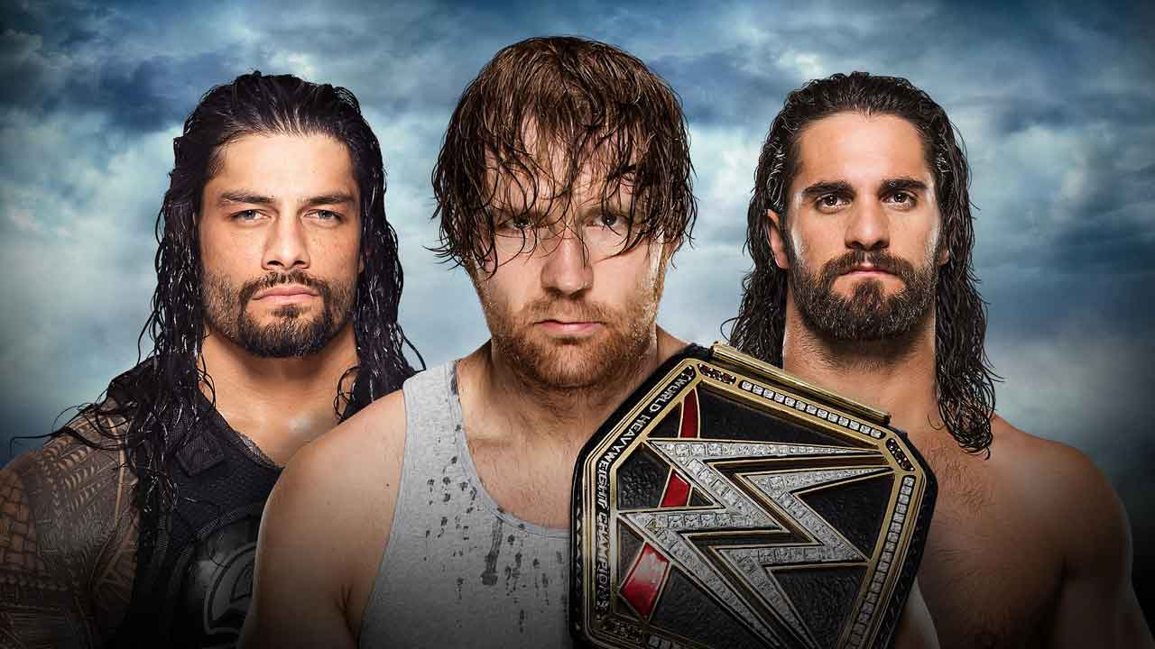 WWE Battleground 2016 Dean Ambrose vs Seth Rollins vs Roman Reigns