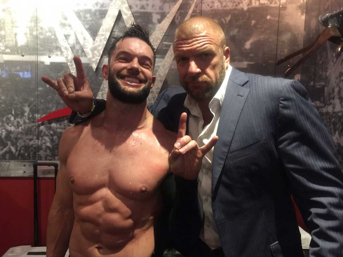 Triple H and Finn Balor