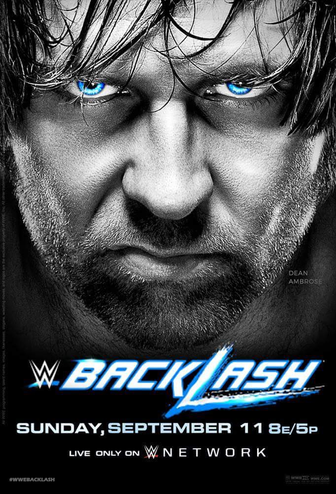 wwe backlash 2016 poster features dean ambrose