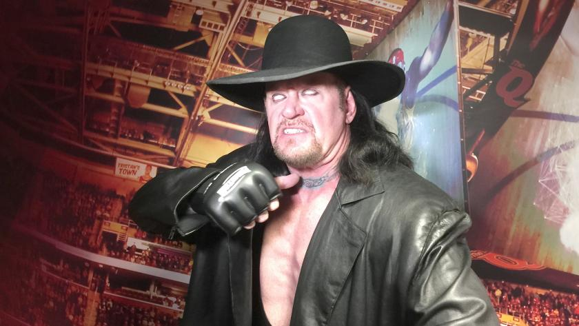 The Undertaker Appears with NBA Team Cleveland Cavaliers vs. New York Knicks NBA game
