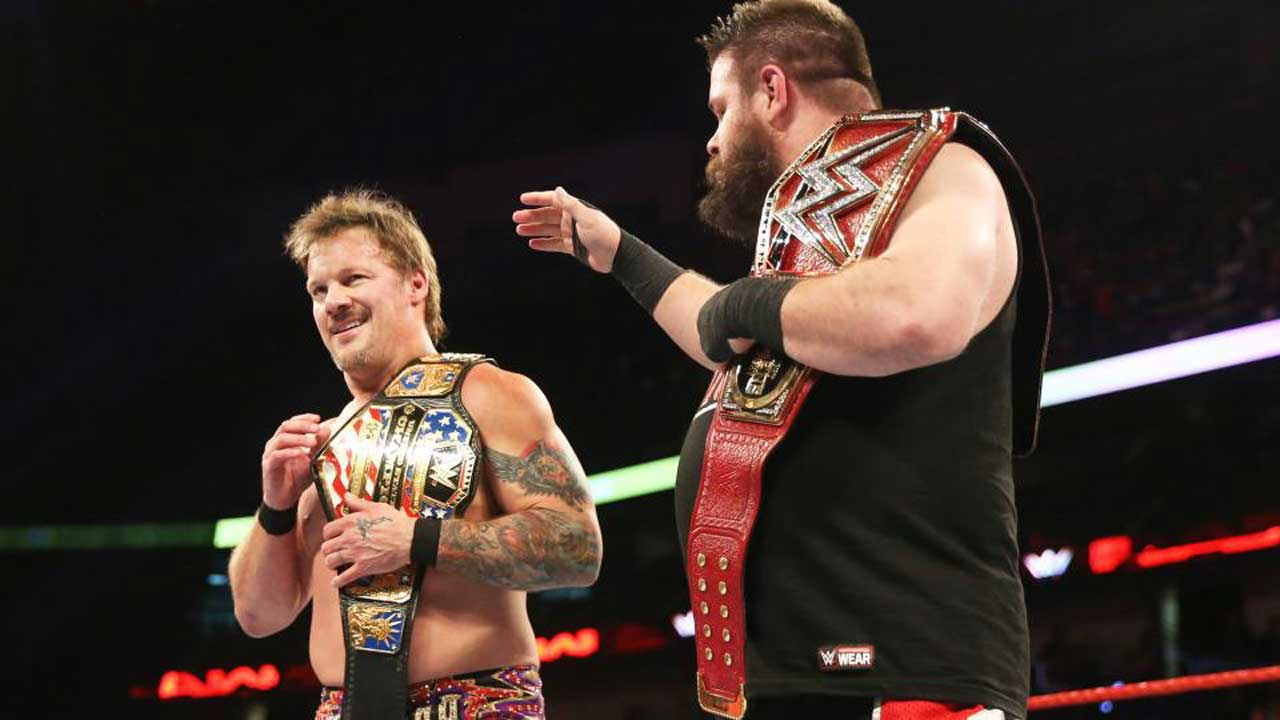 Chris Jericho WWE United States Champion with Kevin Owens