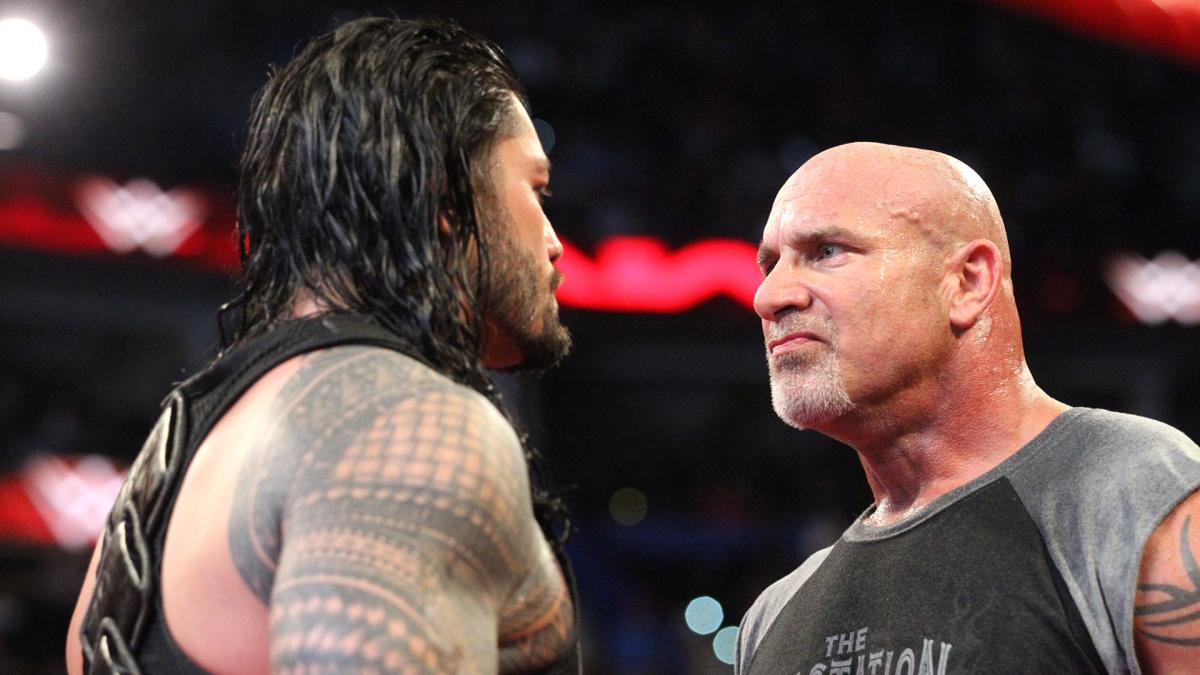 WWE Goldberg and Roman Reigns 2017