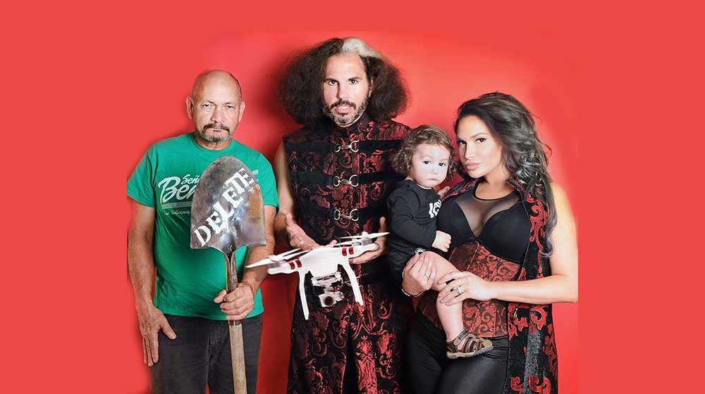 Image result for Matt Hardy, Jeff Hardy, Reby Hardy & Senor Benjamin