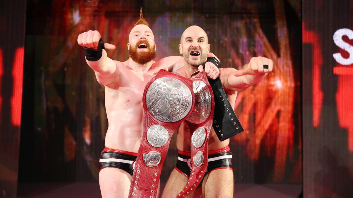 WWE The Bar - Sheamus and Cesaro Tag Team Champions