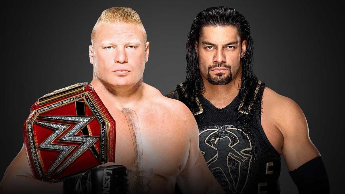 WWE Summerslam 2018 - Universal Champion Brock Lesnar vs. Roman Reigns