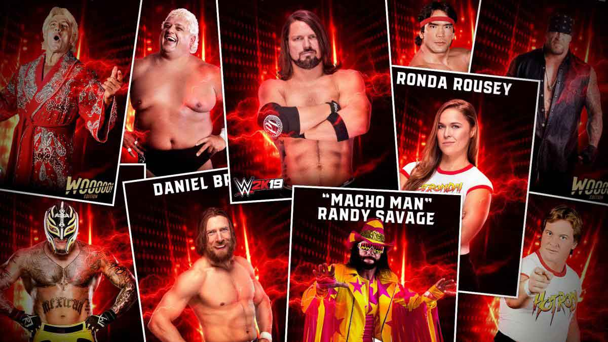 WWE 2K19 roaster list