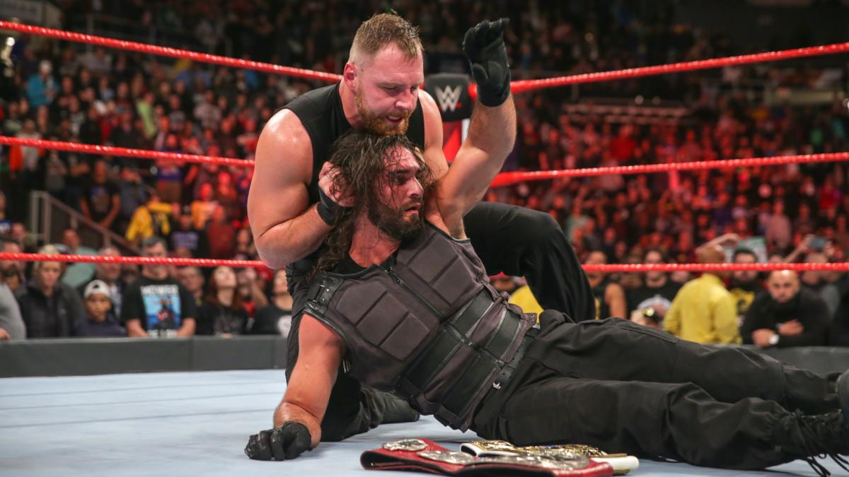 Dean Ambrose turned heel and attacked seth rollins