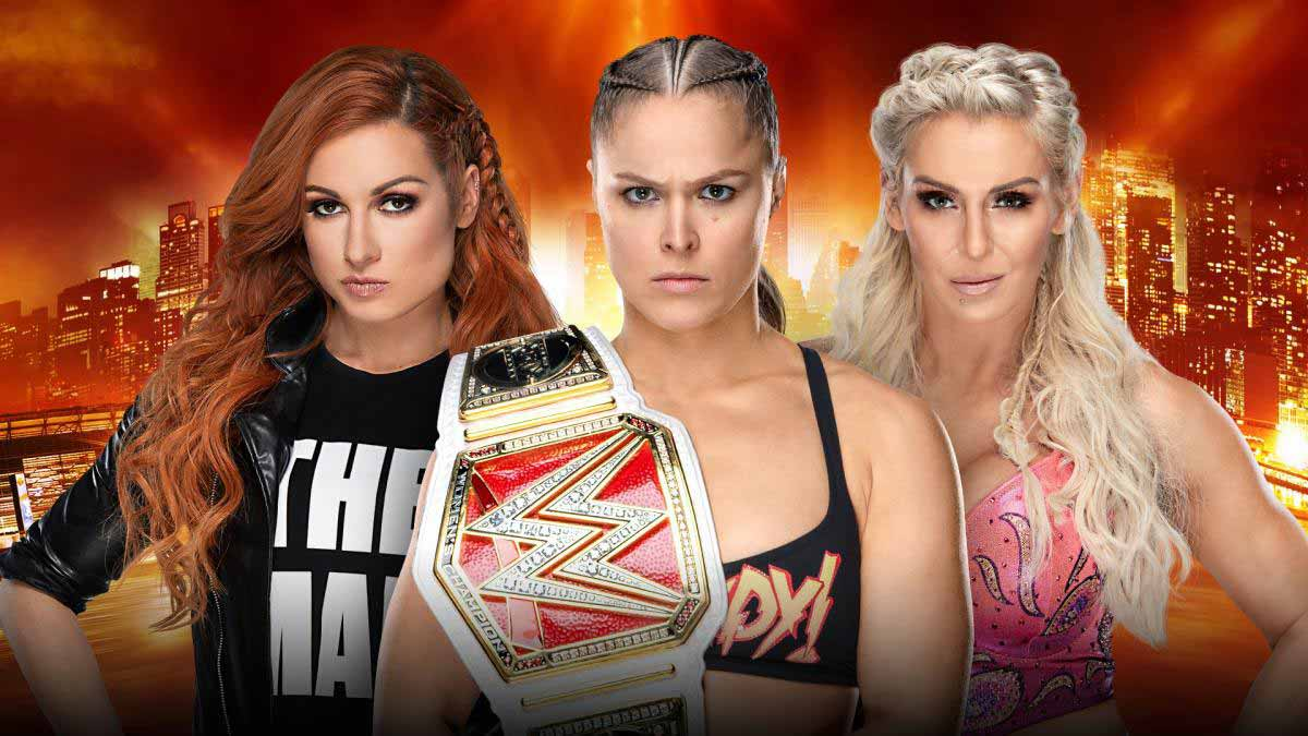 WrestleMania 35 Ronda Rousey vs. Charlotte Flair vs. Becky Lynch