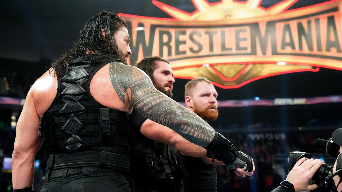 Roman Reigns, Dean Ambrose and Seth Rollins