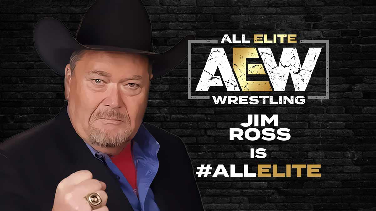 Jim Ross signed with All Elite Wrestling AEW