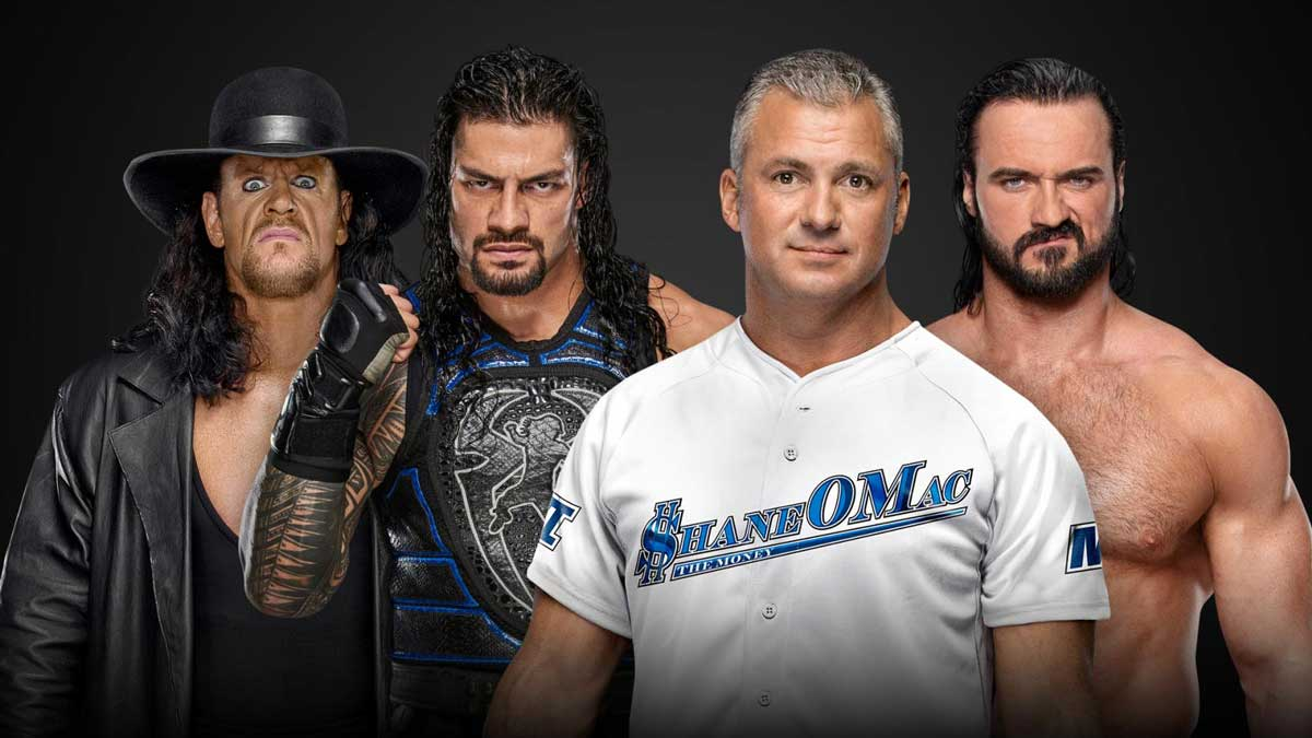The Undertaker & Roman Reigns vs. Shane McMahon & Drew McIntyre at WWE Extreme Rules 2019