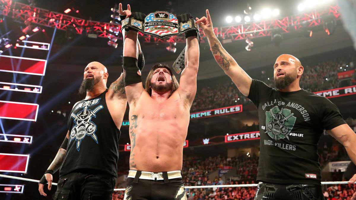 AJ Styles WWE United States Champion