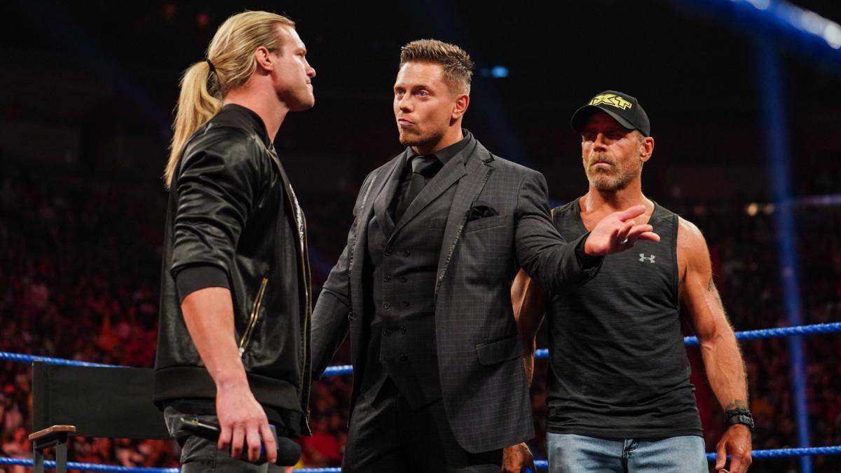 Dolph Ziggler, The Miz and Shawn Michaels