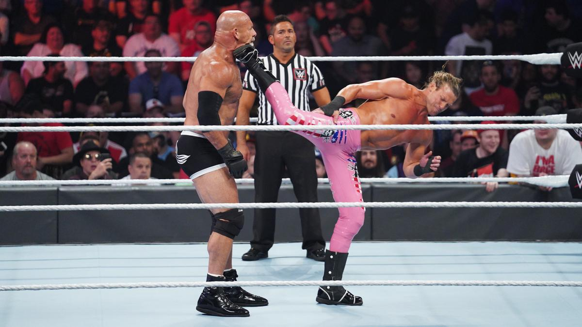 Dolph Ziggler superkick Goldberg WWE SummerSlam 2019