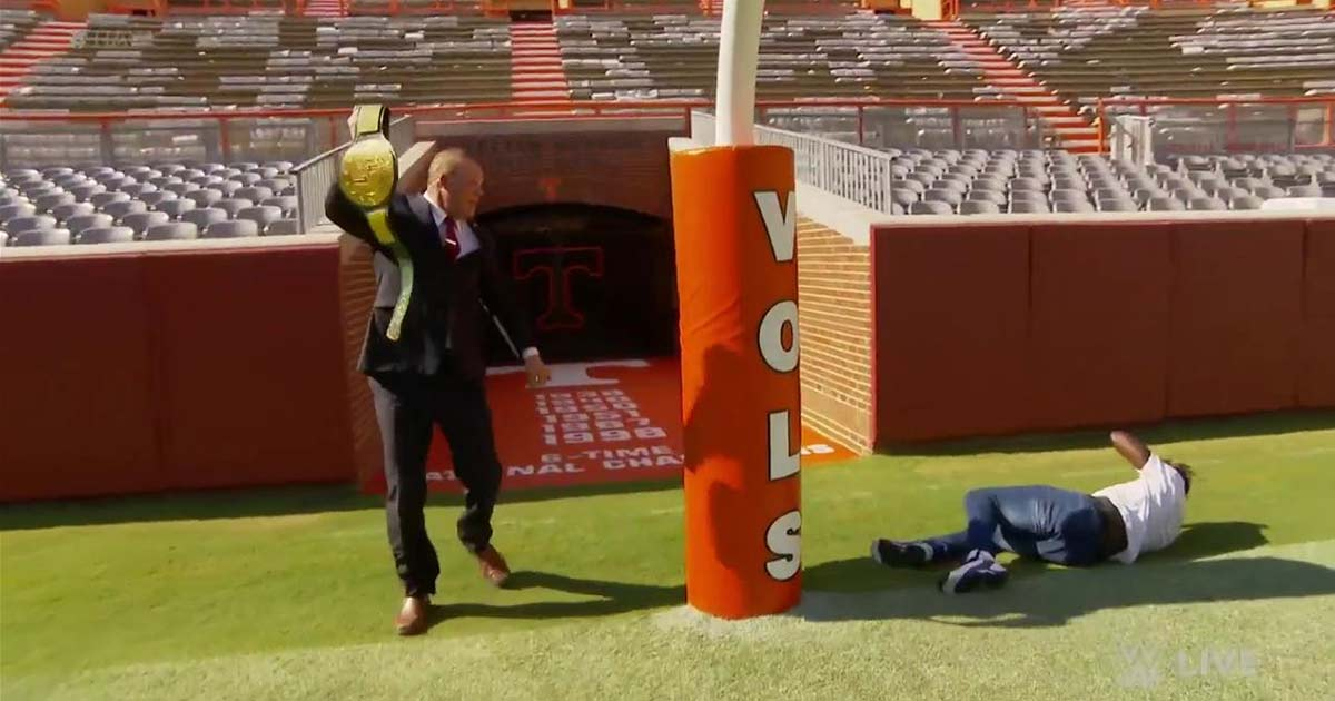The University of Tennessee's Neyland Stadium, Mayor Glenn Jacobs captures the 24/7 Title from R-Truth