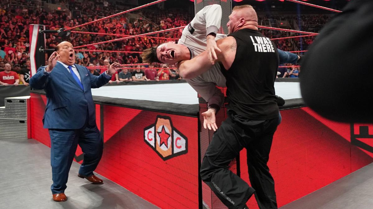 Brock Lesnar Brutally Attacks Rey Mysterio & His Son Dominick