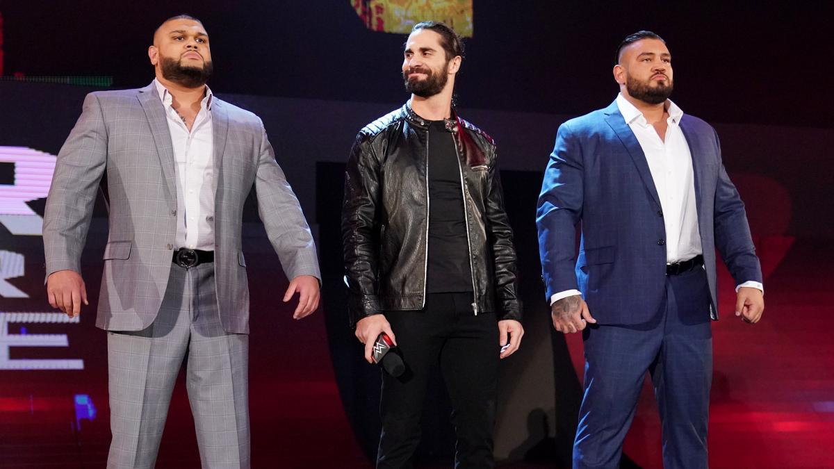 WWE Seth Rollins and AOP The Authors of Pain Akam and Rezar