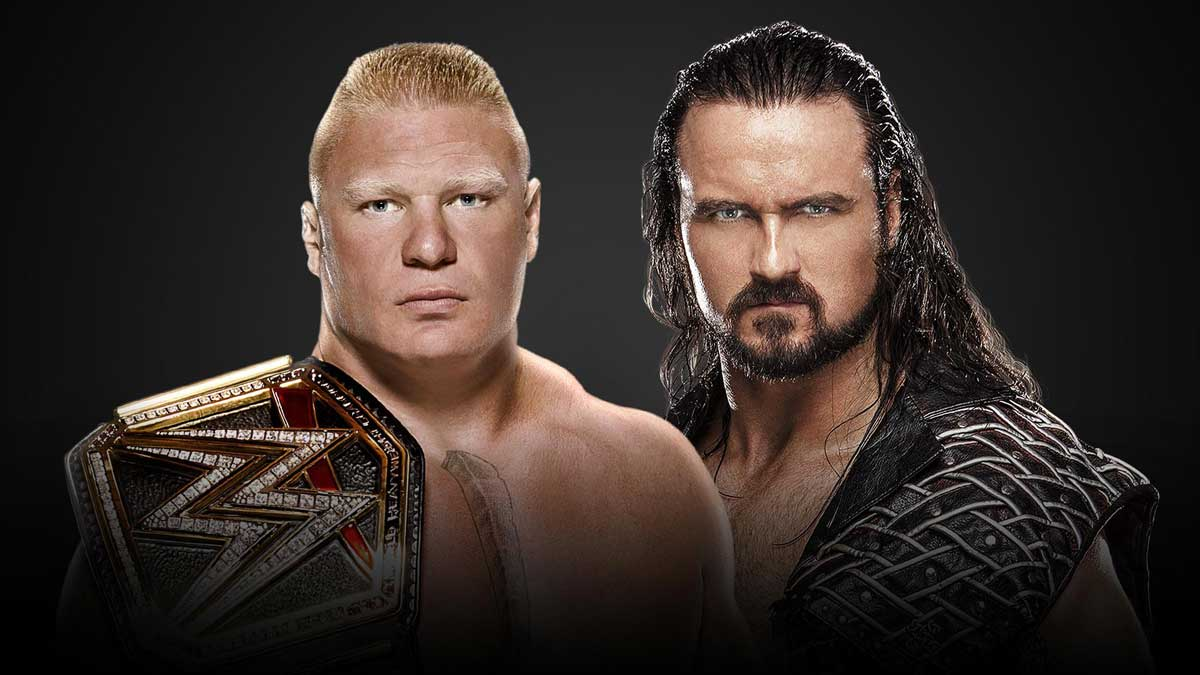WrestleMania 36 WWE Champion Brock Lesnar vs. Drew McIntyre
