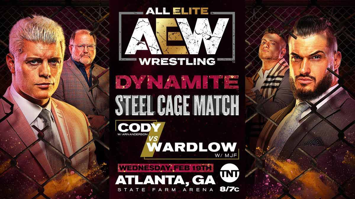 Cody vs Wardlow AEW first Cage match