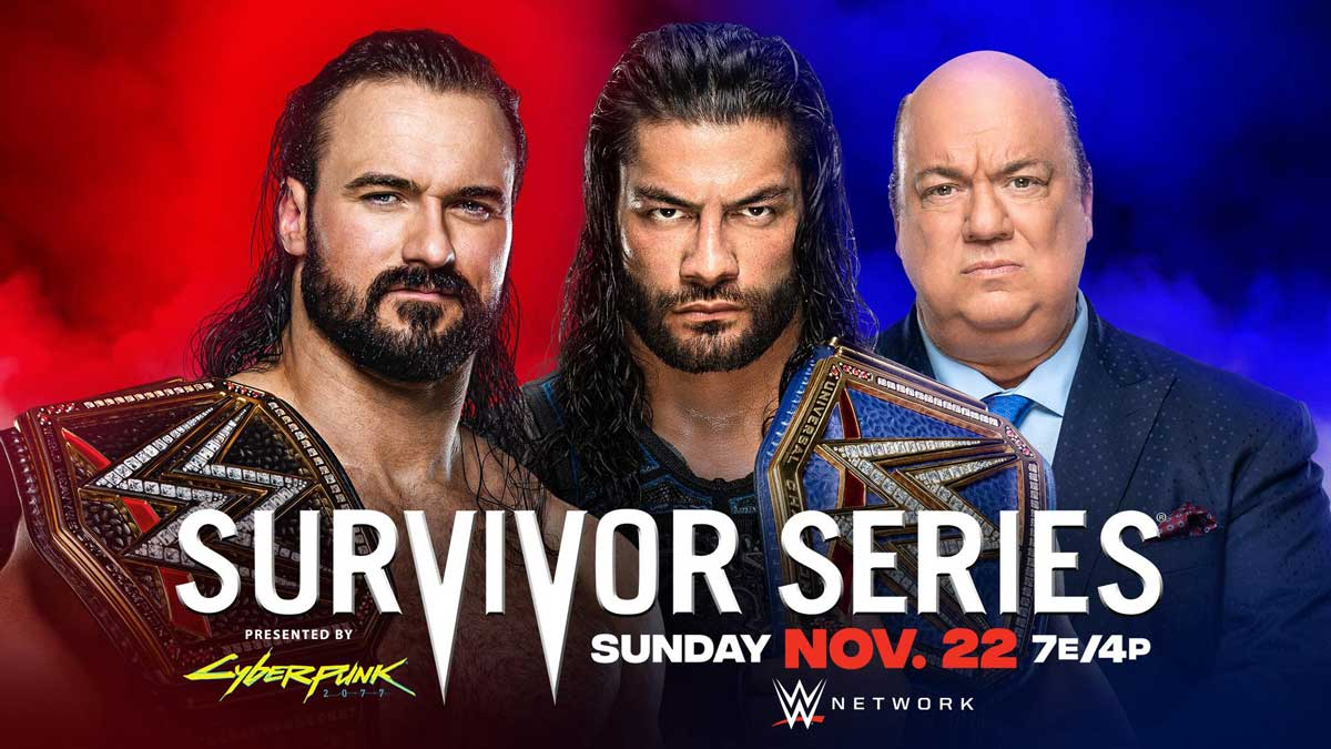 WWE Survivor Series 2020 Drew McIntyre vs. Roman Reigns