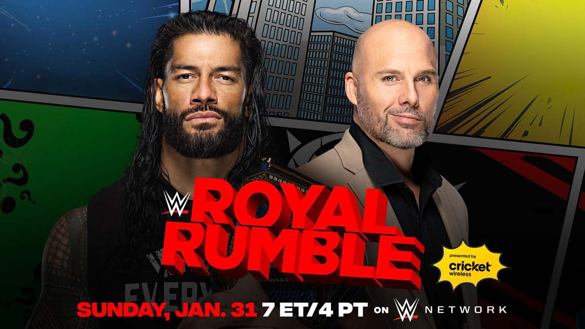 Universal Champion Roman Reigns vs. Adam Pearce - WWE Royal Rumble 2021