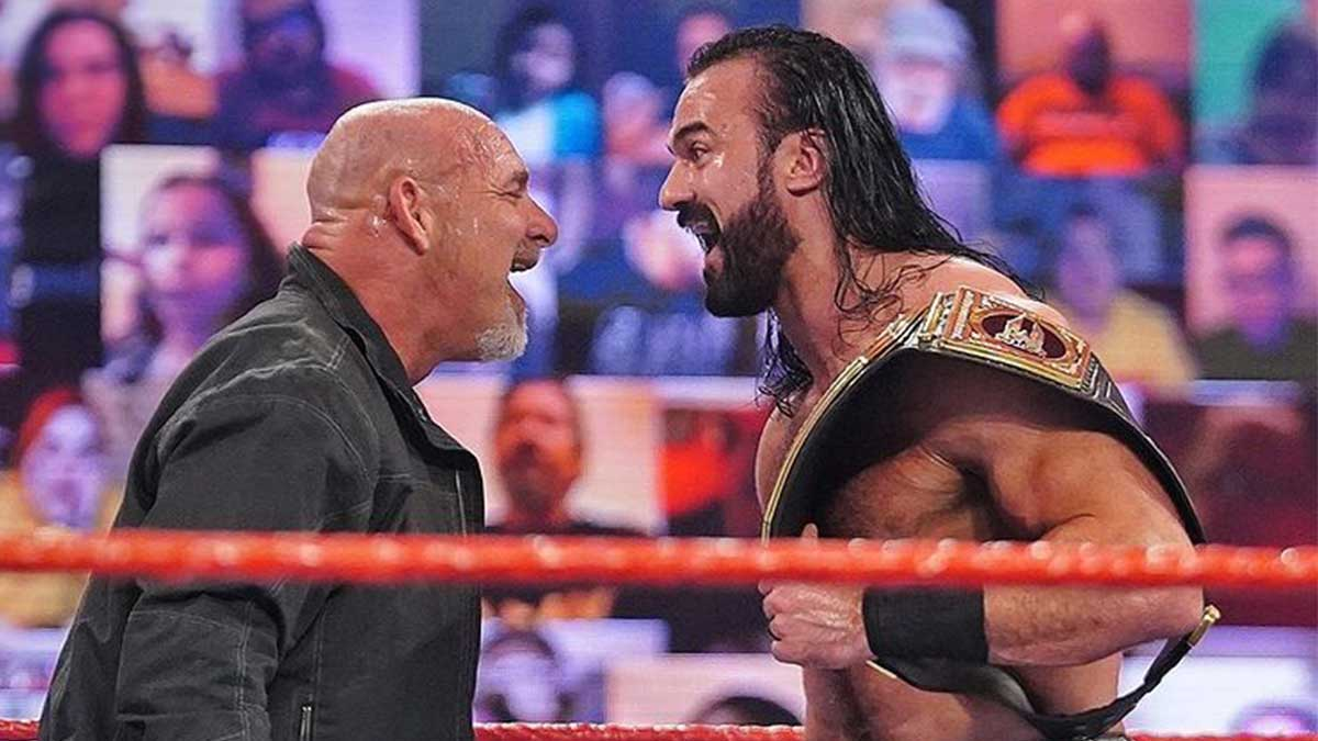 WWE Royal Rumble 2021 Goldberg vs Drew McIntyre