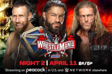 WWE WrestleMania 37 Roman Reigns vs Edge vs Daniel Bryan