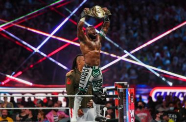 Apollo Crews Intercontinental Championship Nigerian Drum Fight WrestleMania 37