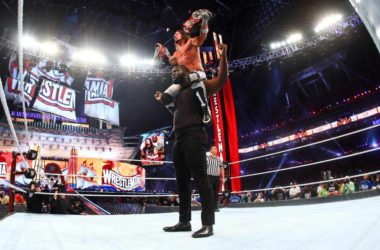 WWE WrestleMania 37 -- AJ Styles & Omos Wins Raw Tag Team Championship