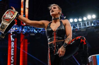WWE WrestleMania 37 -- Rhea Ripley Wins WWE Raw Women's Title